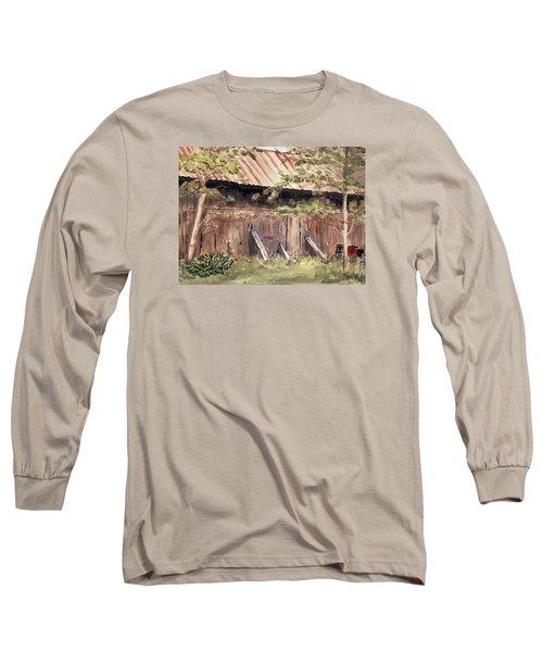 Old Barn Door Long Sleeve T-Shirt by Christine Lathrop