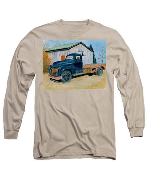 Old Blue Long Sleeve T-Shirt by Stacy C Bottoms
