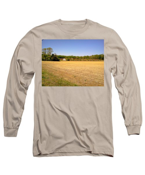 Old Chicken House On A Farm Field Long Sleeve T-Shirt