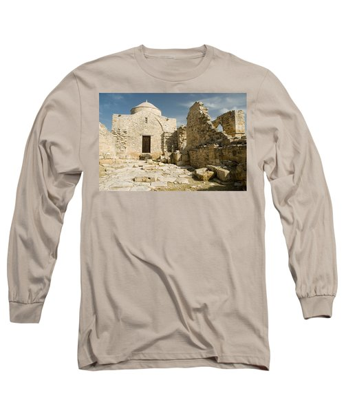Old Church Anogyra  Long Sleeve T-Shirt by Jeremy Voisey