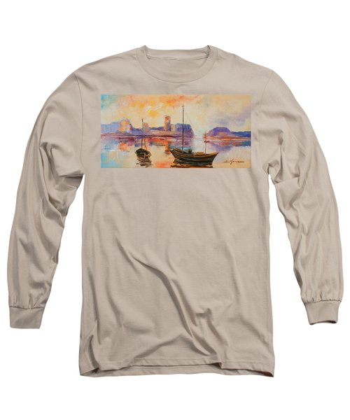 Old Dunbar Harbour Long Sleeve T-Shirt