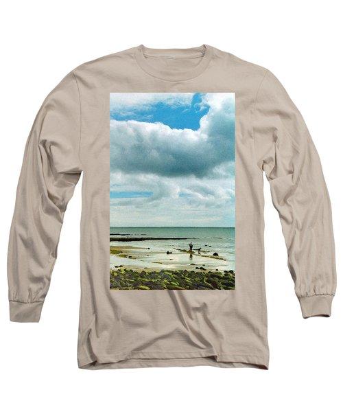Old Friends Share A Beach Long Sleeve T-Shirt