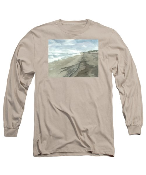 Long Sleeve T-Shirt featuring the painting Old Hatteras Light by Joel Deutsch