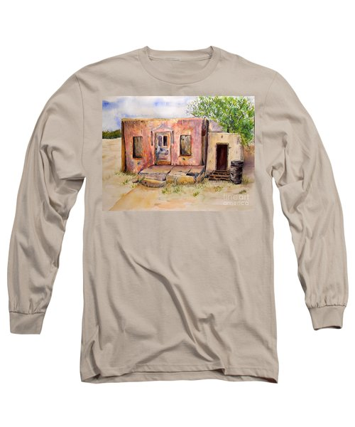 Old House In Clovis Nm Long Sleeve T-Shirt by Vicki  Housel