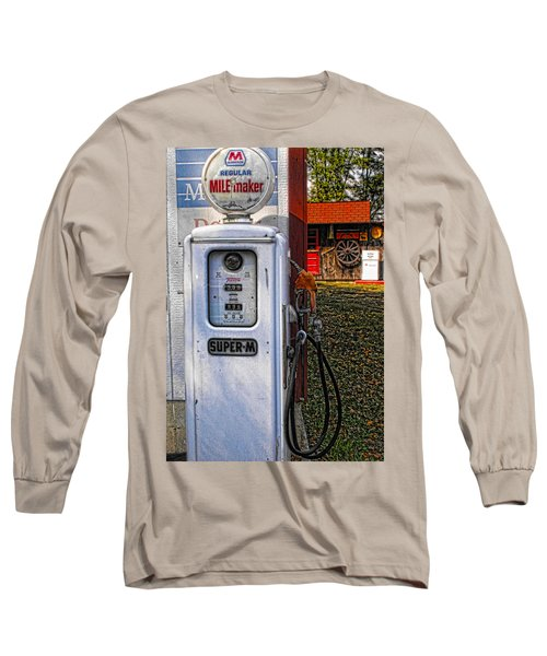 Old Marathon Gas Pump Long Sleeve T-Shirt