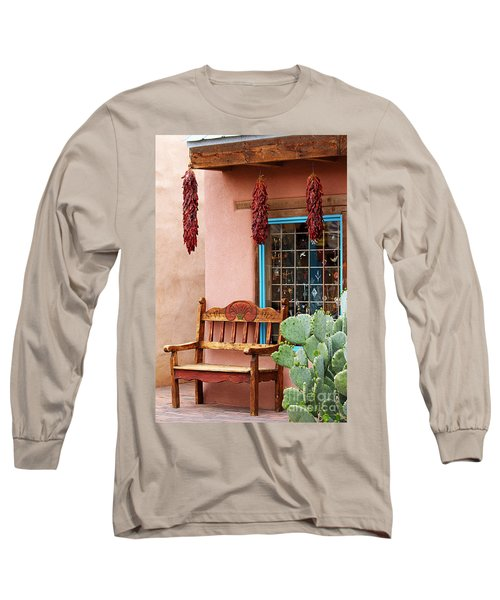 Old Town Albuquerque Shop Window Long Sleeve T-Shirt by Catherine Sherman