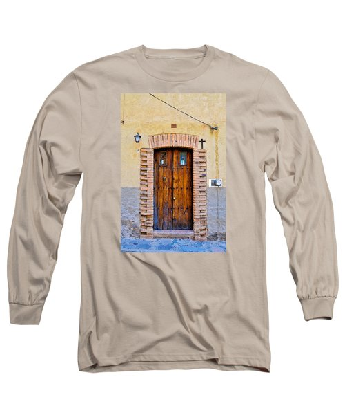 Old Wooden Door - Mexico - Photograph By David Perry Lawrence Long Sleeve T-Shirt by David Perry Lawrence