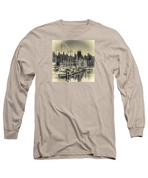 Olympia Marina 1 Long Sleeve T-Shirt by Jean OKeeffe Macro Abundance Art