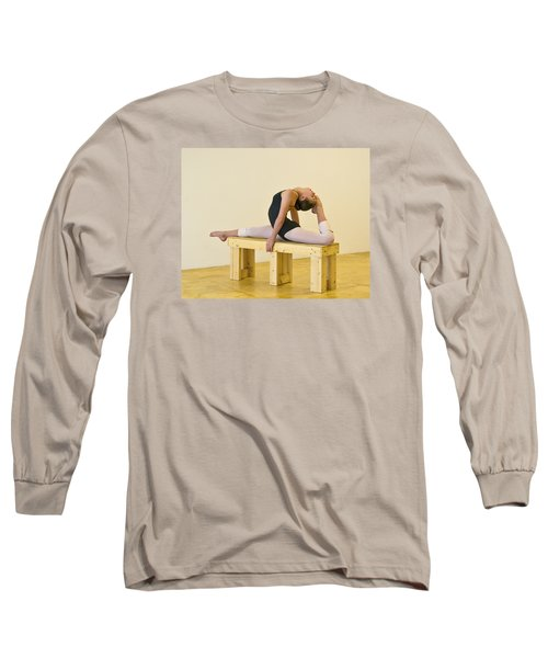Practicing Ballet On The Bench Long Sleeve T-Shirt
