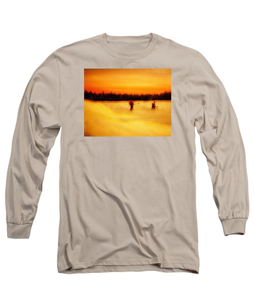 On The Pond With Dad Long Sleeve T-Shirt