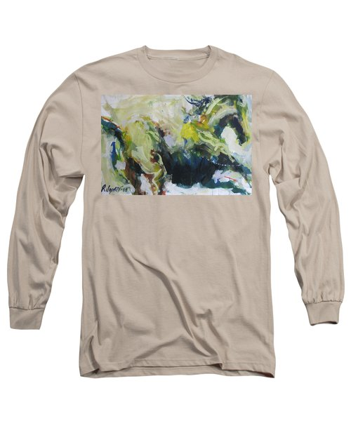 Long Sleeve T-Shirt featuring the painting On The Run No.3 by Robert Joyner