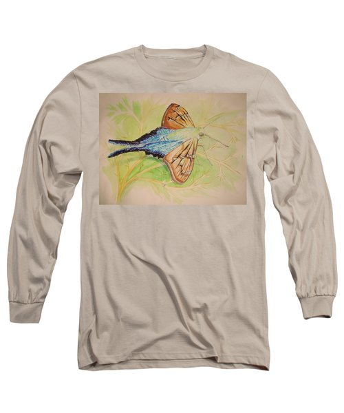 One Day In A Long-tailed Skipper Moth's Life Long Sleeve T-Shirt