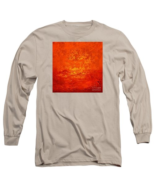 One Night In Old Shanghai By Rjfxx.-original Minimalist Abstract Art Painting Long Sleeve T-Shirt by RjFxx at beautifullart com