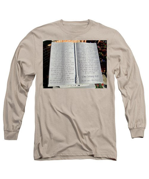One Solitary Life Long Sleeve T-Shirt