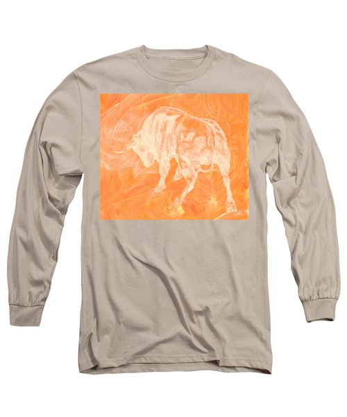 Orange Bull Negative Long Sleeve T-Shirt