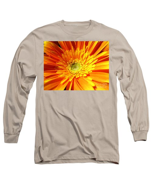 Orange Gerbera Long Sleeve T-Shirt
