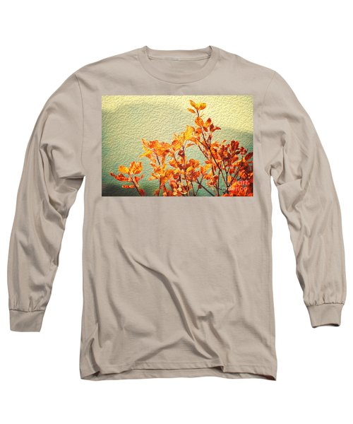 Long Sleeve T-Shirt featuring the photograph Orange Leaves by Yew Kwang