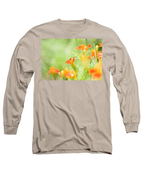 Long Sleeve T-Shirt featuring the photograph Orange Meadow by Ann Lauwers