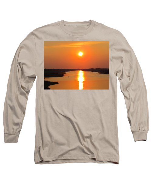 Long Sleeve T-Shirt featuring the photograph Orange Sunset by Cynthia Guinn