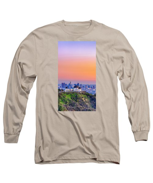 Orangesicle Griffith Observatory Long Sleeve T-Shirt