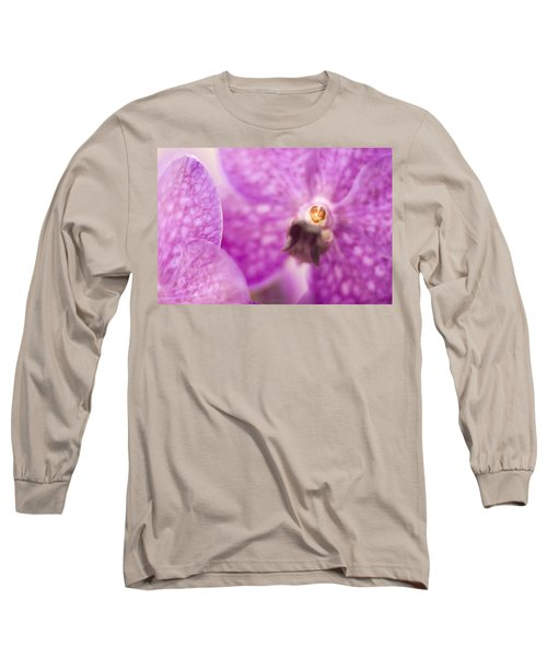 Orchid Long Sleeve T-Shirt by Bradley R Youngberg