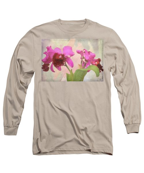 Long Sleeve T-Shirt featuring the photograph Orchid In Hot Pink by Rosalie Scanlon
