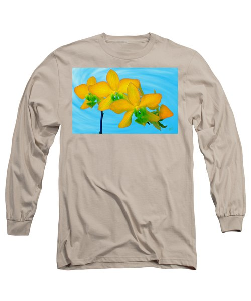 Orchid In Yellow Long Sleeve T-Shirt