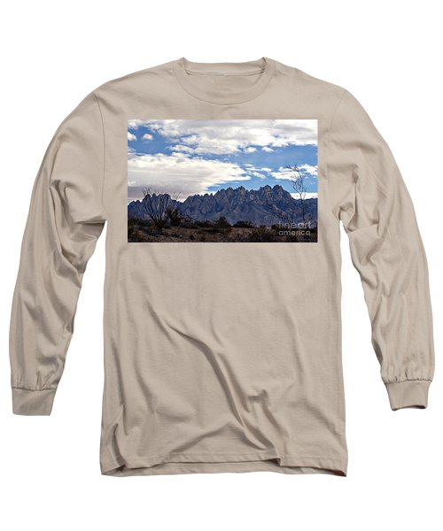 Long Sleeve T-Shirt featuring the photograph Organ Mountain Landscape by Barbara Chichester