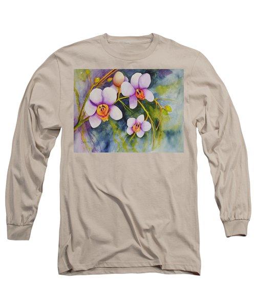 Orchids In My Garden Long Sleeve T-Shirt