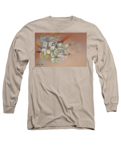 Oriental Pear Blossom Branch Long Sleeve T-Shirt