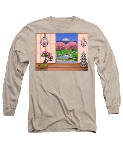 Oriental Splendor Long Sleeve T-Shirt by Glenn Holbrook