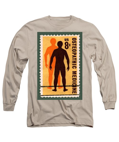 Osteopathic Medicine Stamp Long Sleeve T-Shirt