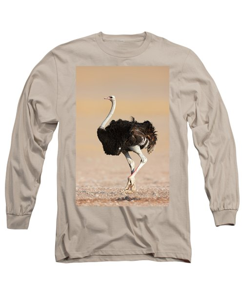 Ostrich Long Sleeve T-Shirt by Johan Swanepoel