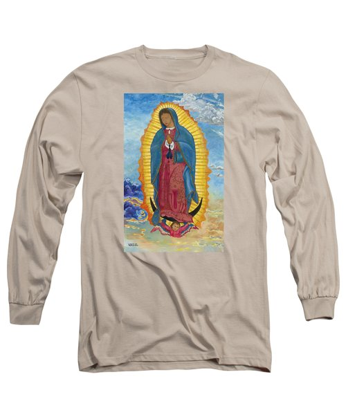 Our Lady Of Guadalupe-new Dawn Long Sleeve T-Shirt by Mark Robbins