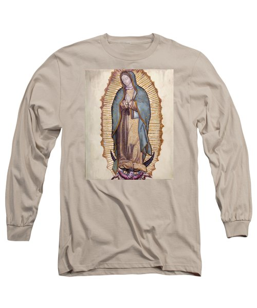 Our Lady Of Guadalupe Long Sleeve T-Shirt by Richard Barone