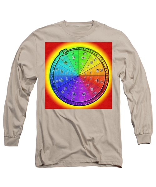 Ouroboros Alchemical Zodiac Long Sleeve T-Shirt