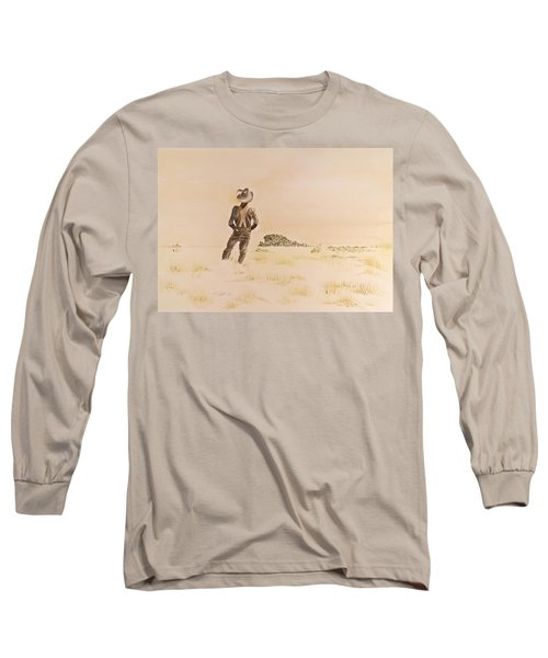 Long Sleeve T-Shirt featuring the painting Out There by Michele Myers