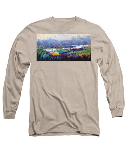 Overlook Abstract Landscape Long Sleeve T-Shirt