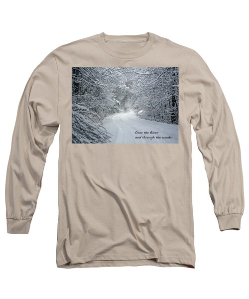 Over The River Long Sleeve T-Shirt by John Haldane