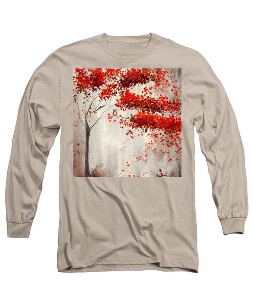 Owl In Autumn Long Sleeve T-Shirt