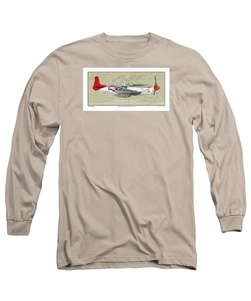 P-51  Long Sleeve T-Shirt by Kenneth De Tore