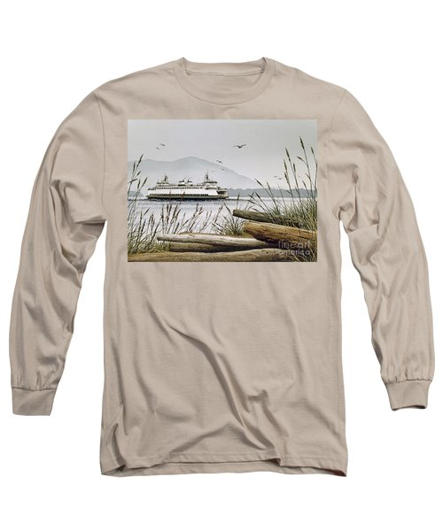 Pacific Northwest Ferry Long Sleeve T-Shirt by James Williamson