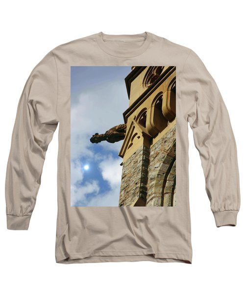 Packer Memorial Church Gargoyle Long Sleeve T-Shirt by Jacqueline M Lewis