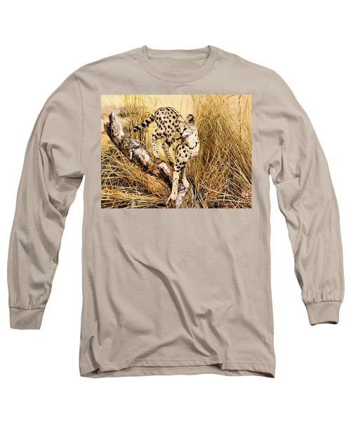 Painted Cheetah Long Sleeve T-Shirt by Kristin Elmquist