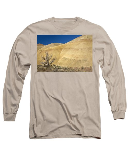 Long Sleeve T-Shirt featuring the photograph Painted Hills Tree by Sonya Lang