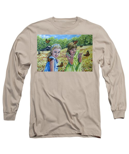 Painted Ladies Long Sleeve T-Shirt by Gail Butler
