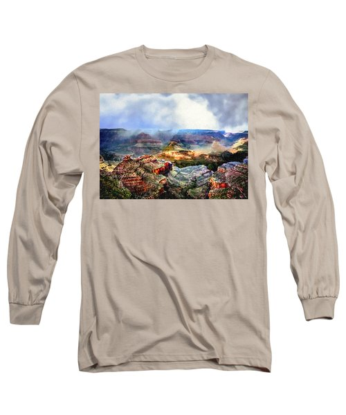 Painting The Grand Canyon Long Sleeve T-Shirt by Bob and Nadine Johnston