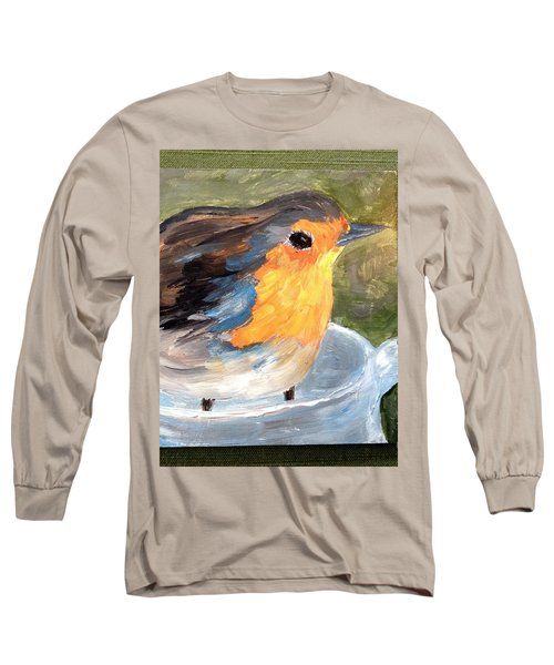 Pajarito  Long Sleeve T-Shirt by Reina Resto