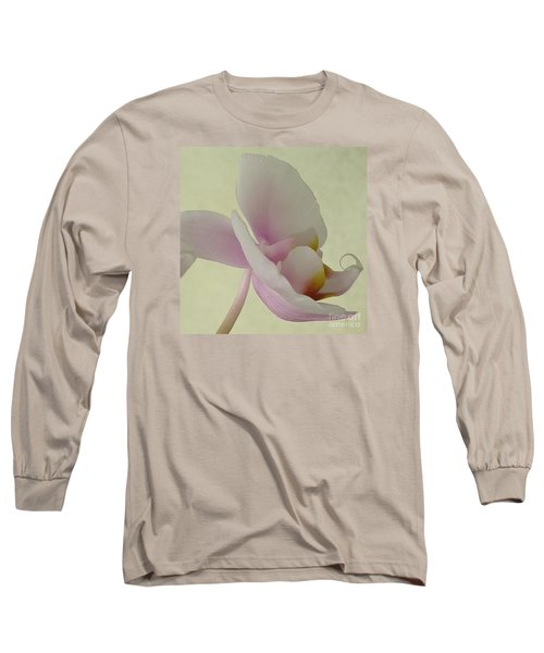 Pale Orchid On Cream Long Sleeve T-Shirt