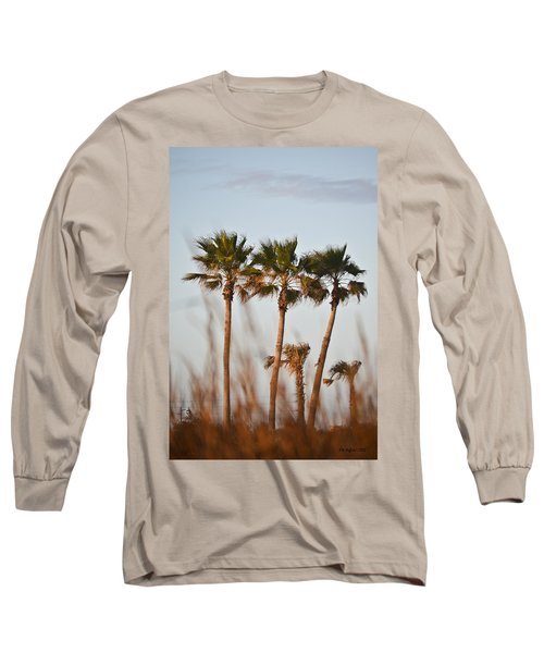 Palm Trees Through Tall Grass Long Sleeve T-Shirt